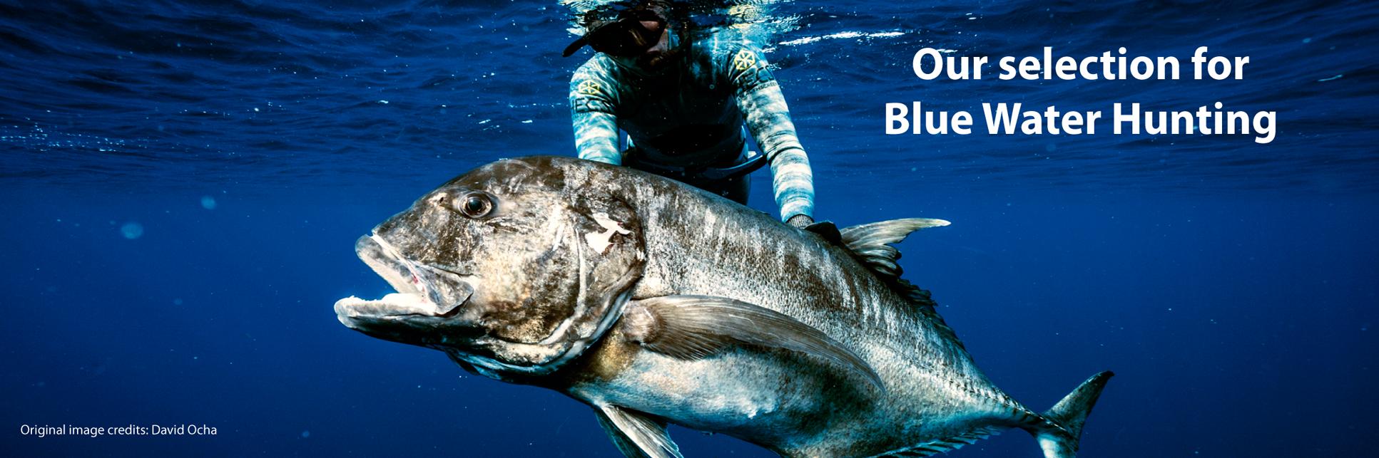 Equipamento e acessórios com especificação para bluewater hunting